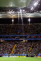 Fotball<br /> Confederations Cup 2005<br /> Finale 29.06.2005<br /> Brasil v Argentina 4-1<br /> Foto: imago/Digitalsport<br /> NORWAY ONLY<br /> <br /> Das neue Stadiondach in der Commerzbankarena hält dem Regen nicht stand, so begleitet ein Wasserfall das Finale des Confederationscups 2005