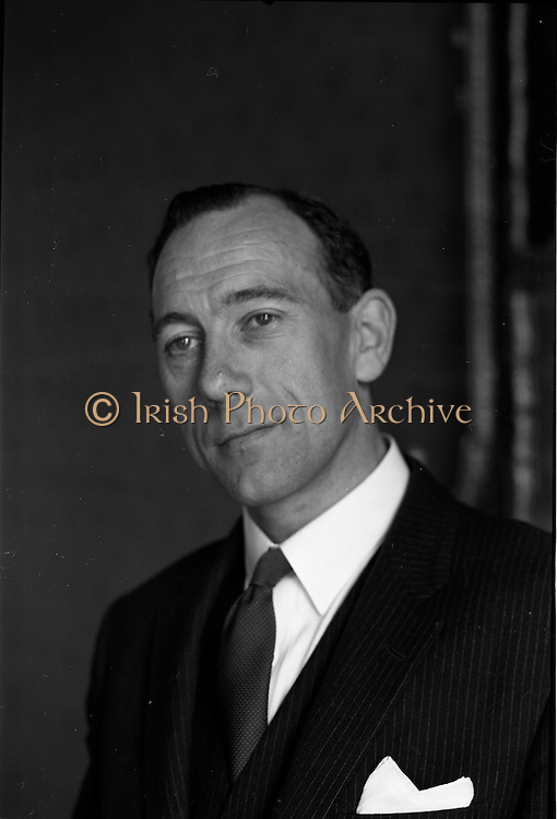 11/06/1963<br /> 06/11/1963<br /> 11 June 1963<br /> Mr. Callaghan, newly appointed Director at Brown Thomas at Brown Thomas, Grafton Street, Dublin.