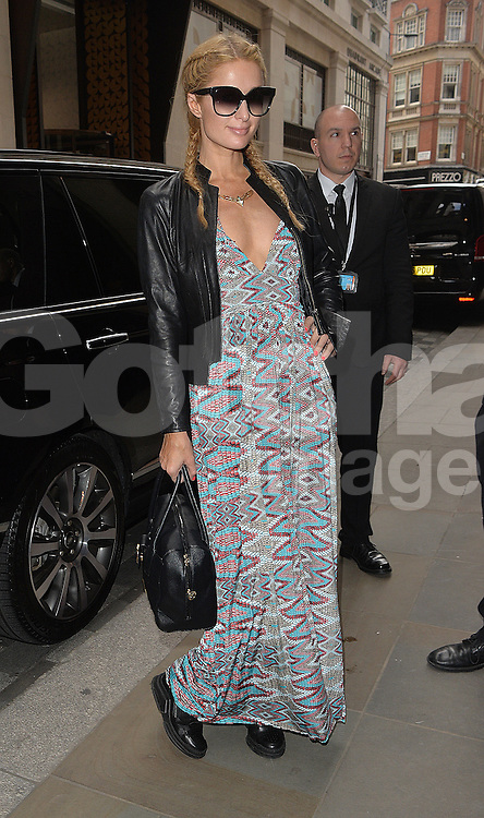 Paris Hilton out and about in London, UK. 26/04/2016<br />BYLINE MUST READ : GOTCHAIMAGES.COM<br /><br />Copyright by &copy; Gotcha Images Ltd. All rights reserved.<br />Usage of this image is conditional upon the acceptance <br />of Gotcha Images Ltd, terms and conditions available at<br />www.gotchaimages.com