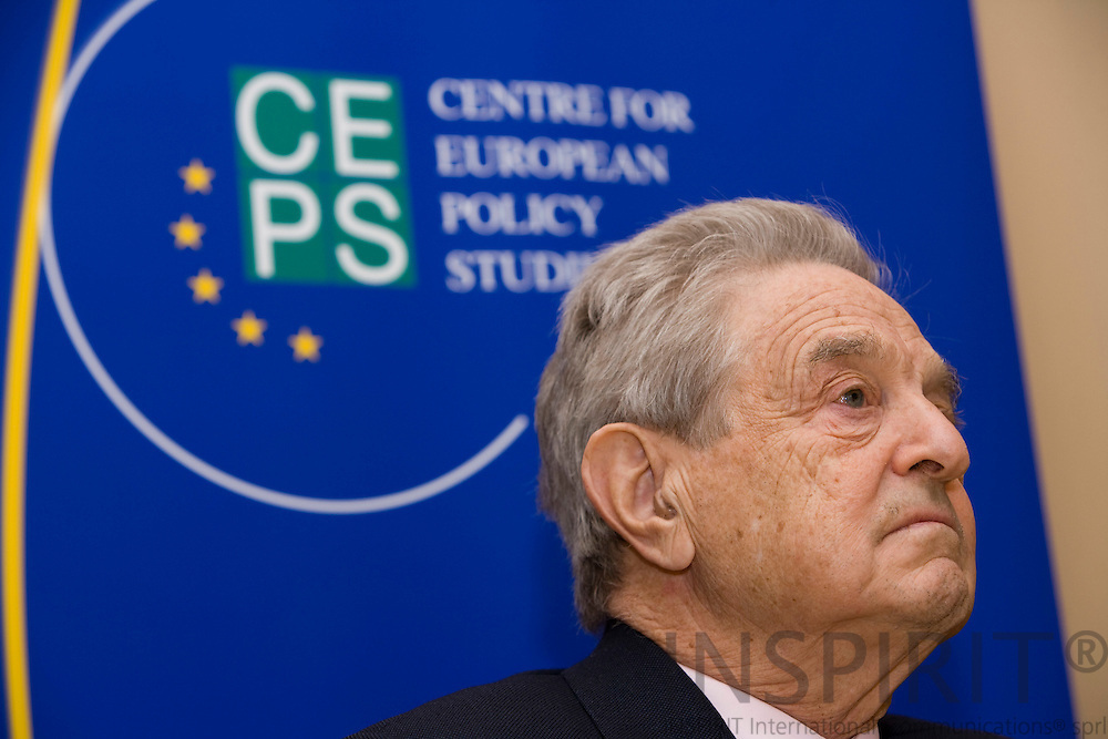 BRUSSELS - BELGIUM - 17 APRIL 2008 -- George SOROS, Chairman, Soros Fund Management. LLC, Founder, Open Society Institute, speaking at CEPS-event, The New Paradigm for Financial Markets: The Credit Crisis of 2008 and What It Means. Photo: Erik Luntang