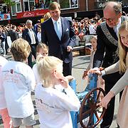 Koningsdag 2014 in Amstelveen, het vieren van de verjaardag van de koning. / Kingsday 2014 in Amstelveen, celebrating the birthday of the King. <br /> <br /> <br /> Op de foto / On the photo:  Prinses Amalia / Princes Amalia