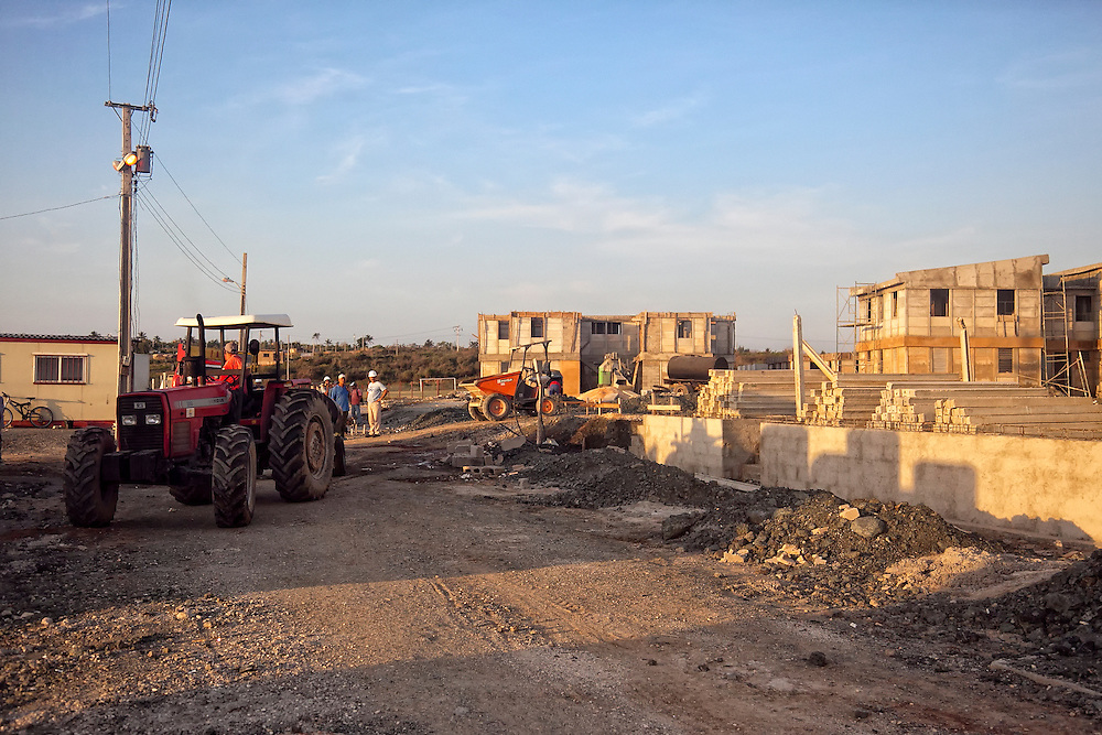 New construction in Gibara, Holguin, Cuba.
