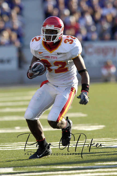 Iowa State wide receiver Milan Moses in action against Kansas State at Bill Snyder Family Stadium in Manhattan, Kansas, October 28, 2006.  The Wildcats beat the Cyclones 31-10.<br />