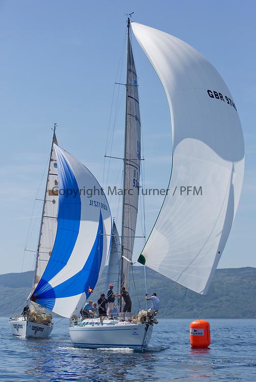Silvers Marine Scottish Series 2017<br /> Tarbert Loch Fyne - Sailing<br /> <br /> GBR9740R, Sloop John T, Iain &amp; Graham Thomson, CCC, Swan 40