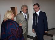 DAME VIVIAN CLORE; GIANCARLO GIACOMETTI; THADDAEUS ROPAC, Opening of Galerie Thaddaeus Ropac London, Ely House, 37 Dover Street.. Mayfair. London. 26 April 2017.