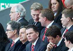 15.04.2013, Anfield Road, Liverpool, ENG, PL, Liverpool FC, 24. Jahrestag der Hillsborough Katastrophe, im Bild Everton manager David Moyes and Liverpool's manager Brendan Rodgers during the 24th Anniversary Hillsborough Service at Anfield, Liverpool, United Kingdom on 2013/04/15. EXPA Pictures © 2013, PhotoCredit: EXPA/ Propagandaphoto/ David Rawcliffe..***** ATTENTION - OUT OF ENG, GBR, UK *****