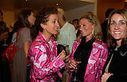 Rose Marie Bravo  and Gabriella Atkinson. Burberry party to launch collection in  support of Breakthrough Breast Cancer. New Bond St. shop. Londddon. 5 October 22004. ONE TIME USE ONLY - DO NOT ARCHIVE  © Copyright Photograph by Dafydd Jones 66 Stockwell Park Rd. London SW9 0DA Tel 020 7733 0108 www.dafjones.com