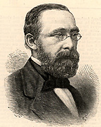 Rudolph Virchow (1821-1902) German pathologist and founder of cell pathology. In later life he turned to anthropology and archaeology and collaborated with Schliemann on the excavations at Troy. Engraving from 'The Illustrated London News' (London, 24 December 1887).