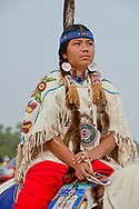 Crow Fair, Parade, teenager, Crow Indian Reservation, Montana