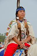 Crow Fair, Parade, teenager, Crow Indian Reservation, Montana