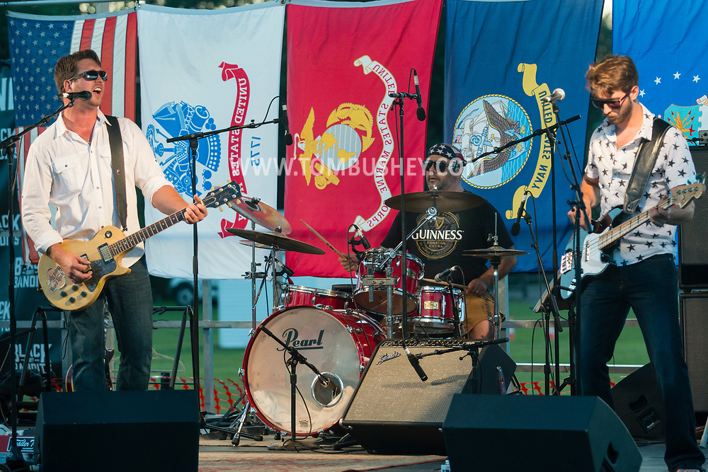 Hamptonburgh, New York - The Black Dirt Bandits perform before Orange County's 2017 Freedom Fest fireworks show at Thomas Bull Memorial Park on July 15, 2017.