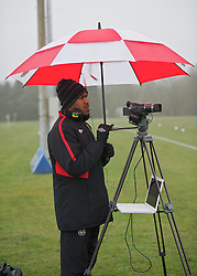 CARDIFF, WALES - Thursday, March 15, 2012: Wales U16's technical analyst Dazell Young during a training session at the Glamorgan Sports Park. (Pic by David Rawcliffe/Propaganda)