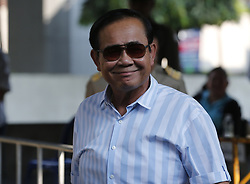 March 24, 2019 - Bangkok, Thailand - Thailand's Prime Minister Prayut Chan-o-cha smiles after his vote during Thailand's general election in Bangkok. (Credit Image: © Chaiwat Subprasom/SOPA Images via ZUMA Wire)