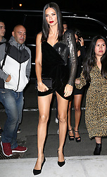 Celebrities arriving at Mert and Marcus party, Bella Hadid, Cindy Crawford and Adriana Lima. 07 Sep 2017 Pictured: Adriana Lima. Photo credit: MEGA TheMegaAgency.com +1 888 505 6342
