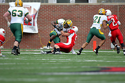 25 October 2008: Tom Nelson wraps up Pat Paschall in a game which the North Dakota Bison defeated the Illinois State Redbirds at Hancock Stadium on campus of Illinois State University in Normal Illinois