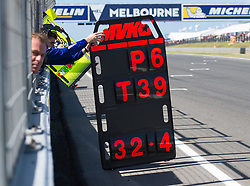 October 20, 2017 - Melbourne, Victoria, Australia - Info board belonging to Spanish rider Maverick Viñales (#25) of Movistar Yamaha MotoGP is shown to him during the first free practice session of the MotoGP class at the 2017 Australian MotoGP at Phillip Island, Australia. (Credit Image: © Theo Karanikos via ZUMA Wire)
