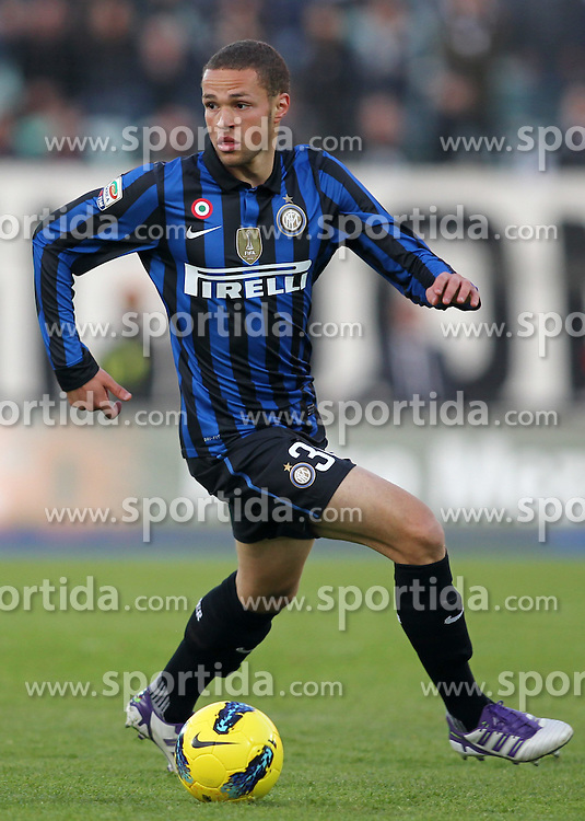 27.11.2011, Stadion Communale Artemio Franchi, Siena, ITA, Serie A, AC Siena vs Inter Mailand, 13. Spieltag, im Bild Lucas Castaignos (Inter) // during the football match of Italian 'Serie A' league, 13th round, between AC Siena and Inter Mailand at Comunale Artemio Franchi stadium, Siena, Italy on 2011/11/27. EXPA Pictures © 2011, PhotoCredit: EXPA/ Insidefoto/ Luca Pagliaricci..***** ATTENTION - for AUT, SLO, CRO, SRB, SUI and SWE only *****