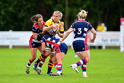 Claire Phelps of Richmond ladies is tackled by Clara Nielson of Bristol Ladies  - Mandatory by-line: Craig Thomas/JMP - 17/09/2017 - Rugby - Cleve Rugby Ground  - Bristol, England - Bristol Ladies  v Richmond Ladies - Women's Premier 15s