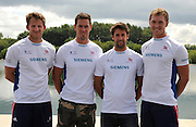 Reading, Great Britain, GBR M4-. Left to right. Matt LANGRIDGE, Rick EGINGTON, Tom JAMES and Alex GREGORY.  2011 GBRowing World Rowing Championship, Team Announcement.  GB Rowing  Caversham Training Centre.  Tuesday  19/07/2011  [Mandatory Credit. Peter Spurrier/Intersport Images]