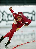 Skøyter, 9-10. november 2002. Verdenscupåpning, Vikingskipet, Dustin Molicki, Canada.