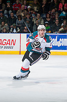 KELOWNA, CANADA - DECEMBER 17: Cole Linaker #26 of Kelowna Rockets skates against the Kamloops Blazers on December 27, 2014 at Prospera Place in Kelowna, British Columbia, Canada.  (Photo by Marissa Baecker/Shoot the Breeze)  *** Local Caption *** Cole Linaker;