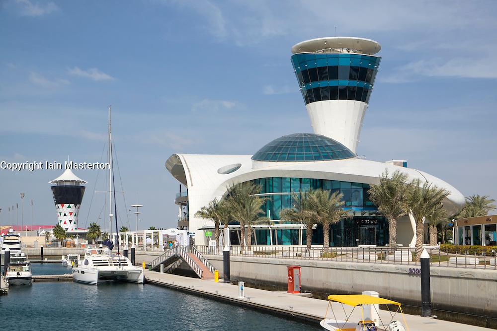 Yas Marina on Yas Island in Abu Dhabi United Arab Emirates