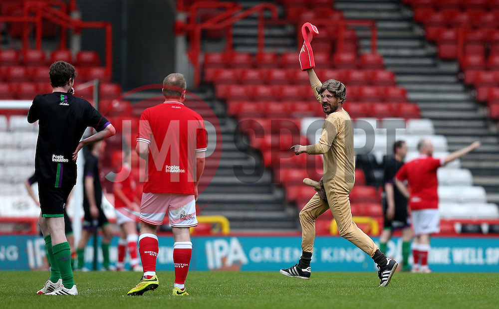 A 'streaker' runs onto the pitch during the match for the RSG Summer Party - Mandatory by-line: Robbie Stephenson/JMP - 19/05/2016 - RUGBY - Ashton Gate - Bristol, England - RSG Summer Party