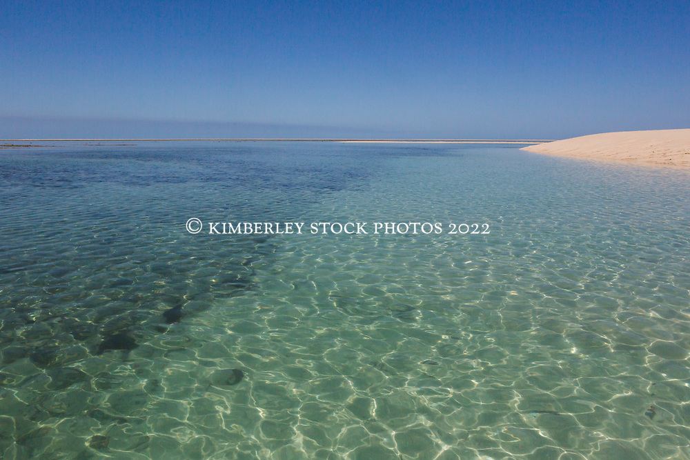 Rich reefs surround a small sand spit near Adele Island on the Kimberley coast