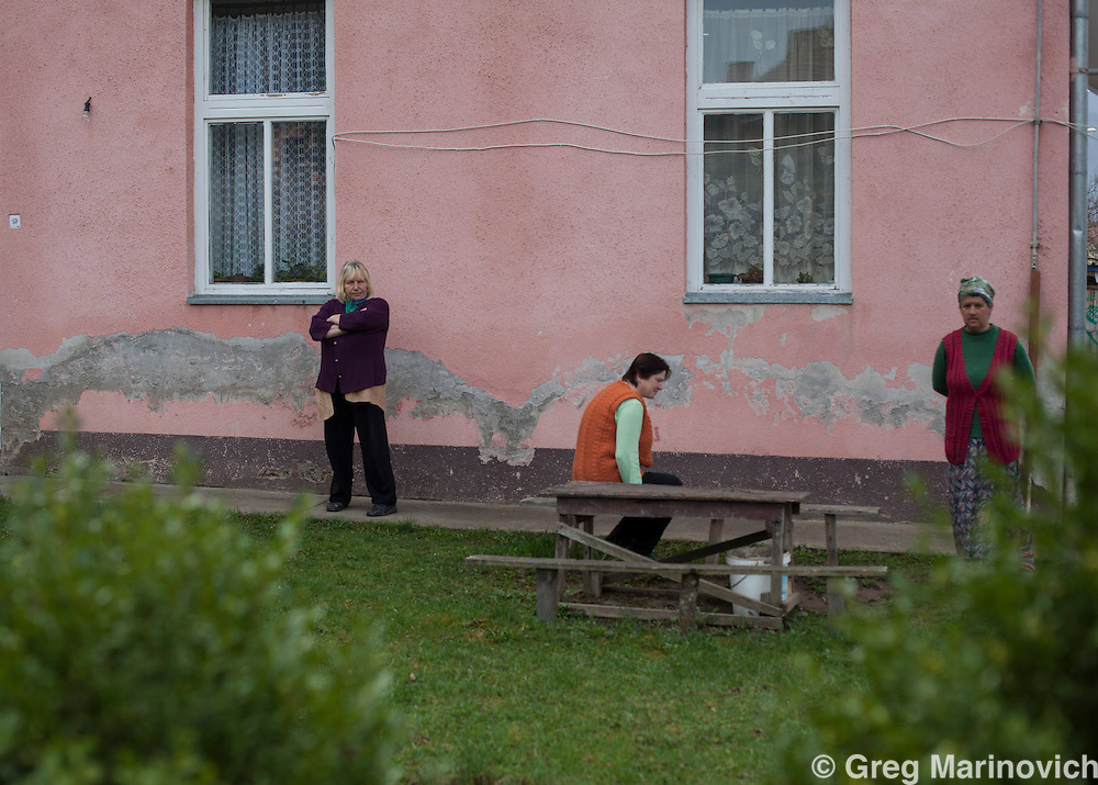 Gorazde, Bosnia and Herzegovina, April 6, 2012. Splaviste collective centre for displacees.  Greg Marinovich