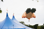 22/07/2015 repro free The Skywhale by Patricia Piccinini flying over Galwya City and County for the last time in The Galwya International Arts Festival. Photo:Andrew Downes:XPOSURE