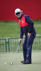 USA's Kurt Russell during a celebrity golf match ahead of the 41st Ryder Cup at Hazeltine National Golf Club in Chaska, Minnesota, USA. PRESS ASSOCIATION Photo. Picture date: Wednesday September 28, 2016. See PA story GOLF Ryder. Photo credit should read: Peter Byrne/PA Wire. RESTRICTIONS: Use subject to restrictions. Editorial use only. No commercial use. Call +44 (0)1158 447447 for further information.