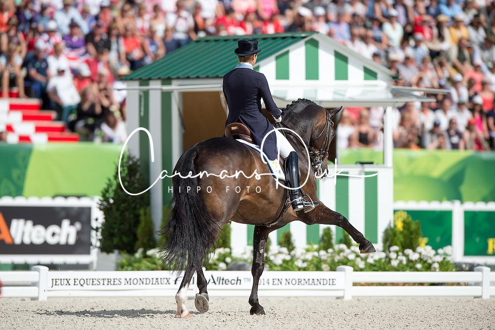 Tinne Vilhelmson Silfven, (SWE), Don Auriello - Freestyle Grand Prix Dressage - Alltech FEI World Equestrian Games&trade; 2014 - Normandy, France.<br /> &copy; Hippo Foto Team - Jon Stroud<br /> 25/06/14