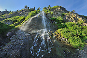 Waterfall along a cliff<br /> La Martre<br /> Quebec<br /> Canada