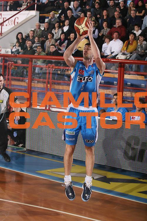 DESCRIZIONE : Porto San Giorgio Lega A1 2007-08 Premiata Montegranaro Eldo Napoli <br /> GIOCATORE : Matteo Malaventura <br /> SQUADRA : Eldo Napoli <br /> EVENTO : Campionato Lega A1 2007-2008 <br /> GARA : Premiata Montegranaro Eldo Napoli <br /> DATA : 23/02/2008 <br /> CATEGORIA : Tiro <br /> SPORT : Pallacanestro <br /> AUTORE : Agenzia Ciamillo-Castoria/G.Ciamillo