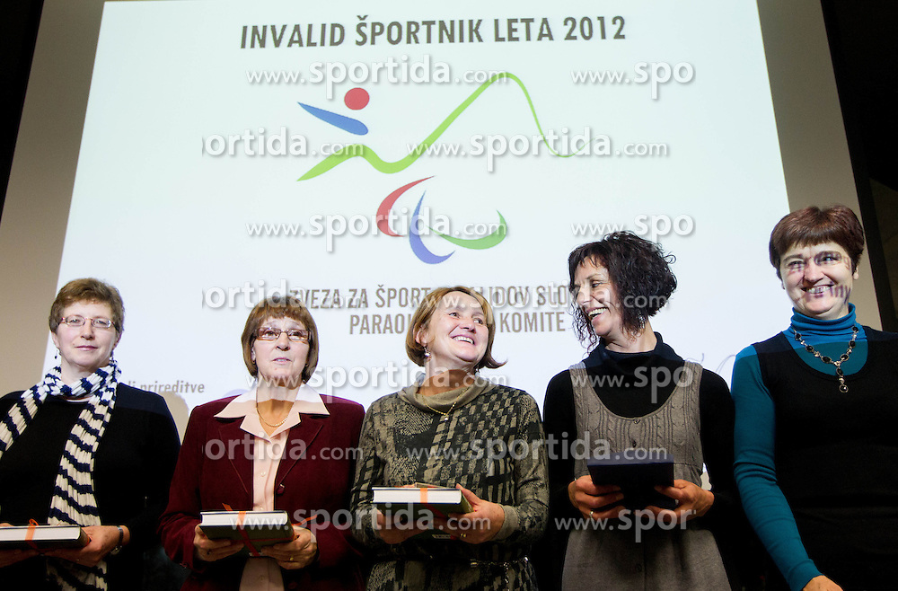 Best women team during Disabled Slovenian athlete of the year 2012 event on December 6, 2012 in Kristalna palace, Ljubljana, Slovenia. (Photo By Vid Ponikvar / Sportida)