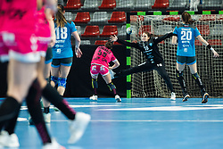 Vojnovic Maja of RK Krim Mercator during handball match between RK Krim Mercator and Brest Bretagne Handball in 2nd main round of Women's DELO EHF Champions League 2019/20, on February 2, 2020 in Kodeljevo, Ljubljana,  Slovenia. Photo Grega Valancic / Sportida