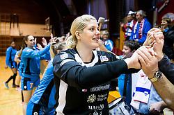 Misa Marincek of RK Krim Mercator celebrates after the handball match between RK Krim Mercator and ZRK Z'Dezele Celje in Last Round of Slovenian National Championship 2016/17, on April 18, 2017 in Arena Galjevica, Ljubljana, Slovenia. Photo by Vid Ponikvar / Sportida