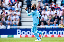 Moeen Ali of England celebrates taking the wicket of Fakhar Zaman of Pakistan - Mandatory by-line: Robbie Stephenson/JMP - 03/06/2019 - CRICKET - Trent Bridge - Nottingham, England - England v Pakistan - ICC Cricket World Cup 2019 Group Stage