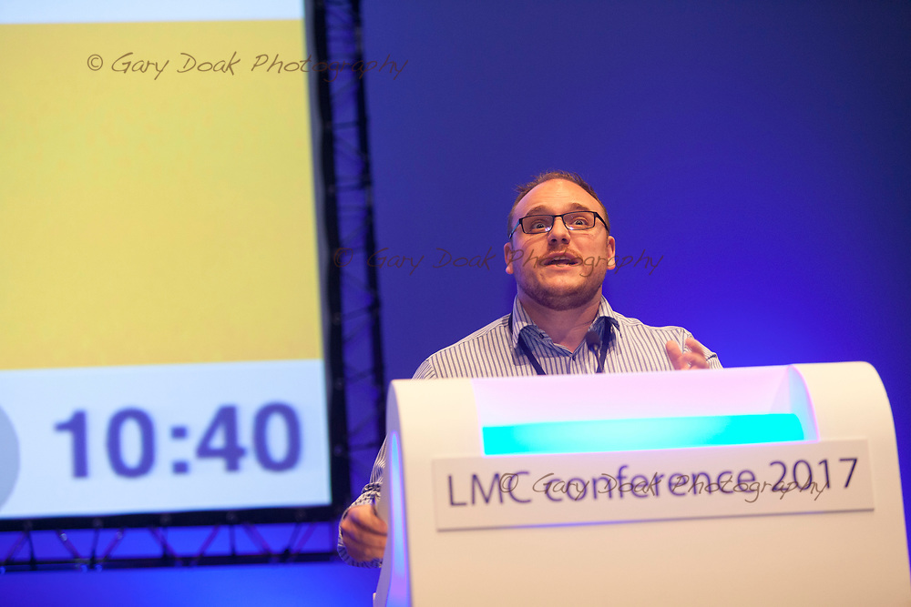 Jamie Green<br /> BMA LMC's Conference<br /> EICC, Edinburgh<br /> <br /> 18th May 2017<br /> <br /> Picture by Gary Doak