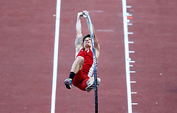 May 31, 2018 - Rome, Italy - Diogo Ferreira (POR) competes in pole vault men during Golden Gala Iaaf Diamond League Rome 2018 at Olimpico Stadium in Rome, Italy on May 31, 2018. (Credit Image: © Matteo Ciambelli/NurPhoto via ZUMA Press)