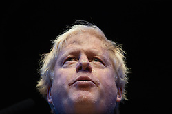 © Licensed to London News Pictures . 02/10/2018. Birmingham, UK. BORIS JOHNSON speaks at a Conservative Home fringe event at the conference on day 3 of the Conservative Party conference at the ICC in Birmingham . Photo credit: Joel Goodman/LNP