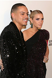 February 24, 2019 - West Hollywood, CA, USA - LOS ANGELES - FEB 24:  Evan Ross, Ashlee Simpson at the Elton John Oscar Viewing Party on the West Hollywood Park on February 24, 2019 in West Hollywood, CA (Credit Image: © Kay Blake/ZUMA Wire)