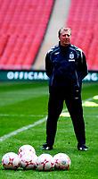 Photo: Alan Crowhurst.<br />England training session at Wembley Stadium. 21/03/2007. Coach Steve McClaren watches as training begins.