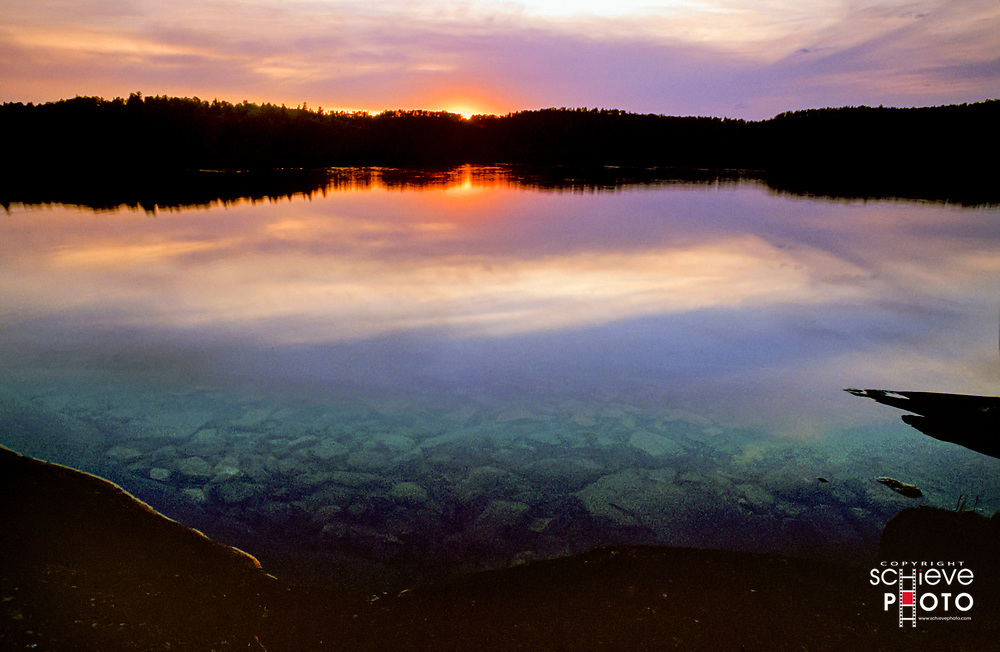 Sunset in Quetico Provincial Park.
