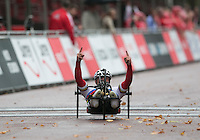 Walter Ablinger AUT wins Mens  Hand Cycle Classic<br /> Prudential RideLondon, the world&rsquo;s greatest festival of cycling, involving 70,000+ cyclists &ndash; from Olympic champions to a free family fun ride - riding in five events over closed roads in London and Surrey over the weekend of 9th and 10th August. <br /> <br /> Photo: SCOTT HEAVEY for Prudential RideLondon<br /> <br /> See www.PrudentialRideLondon.co.uk for more.<br /> <br /> For further information: Penny Dain 07799 170433<br /> pennyd@ridelondon.co.uk