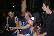 Lord and Lady McAlpine, Anya Weakley and Victoria Fernandez. Cafe de Paris 80th birthday party. Coventry St. London 26 October 2005. October 2005. ONE TIME USE ONLY - DO NOT ARCHIVE © Copyright Photograph by Dafydd Jones 66 Stockwell Park Rd. London SW9 0DA Tel 020 7733 0108 www.dafjones.com
