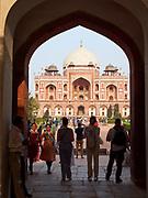 India, Delhi. Humayun's Tomb.