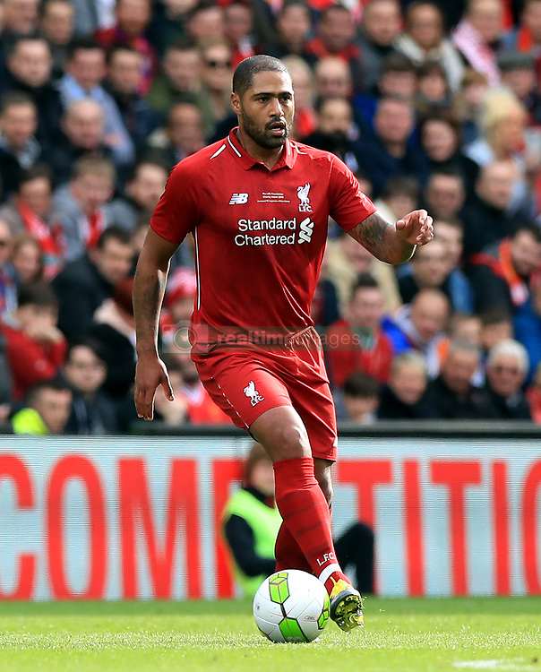 Liverpool's Glen Johnson during the Legends match at Anfield Stadium, Liverpool.