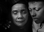 """Coretta Scott King, widow of the slain civil rights leader Dr. Martin Luther King, Jr., attends the funeral of her father-in-law Dr. Martin Luther """"Daddy"""" King, Sr. at King's Ebenezer Baptist Church in Atlanta, Georgia."""