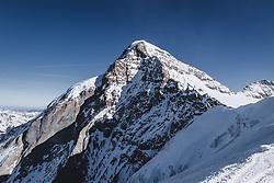 15.01.2020, Jungfrauenjoch, Wengen, SUI, FIS Weltcup Ski Alpin, Vorberichte, im Bild Mönch (4107m) // Mönch summit (4107m) during a preliminary reports prior to the FIS ski alpine world cup at the Jungfrauenjoch in Wengen, Switzerland on 2020/01/15. EXPA Pictures © 2020, PhotoCredit: EXPA/ Johann Groder **** ACHTUNG - dieses Bilddatei ist für den Grossformatdruck in einer maximalen Grösse mit mehr als 18142 x 6717 pixel (ca. 700 MB) verfügbar! Fragen Sie nach den hochauflösenden Daten // ATTENTION - This image file is for Large Format Printing available in a maximum size of more then 18142 x 6717 pixels (about 700 MB)! Ask for the high-resolution data. ****